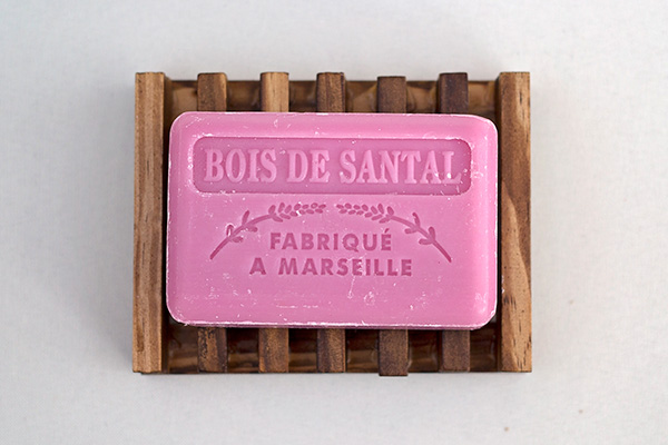100% Natural French Soap With Bamboo Soap Dish