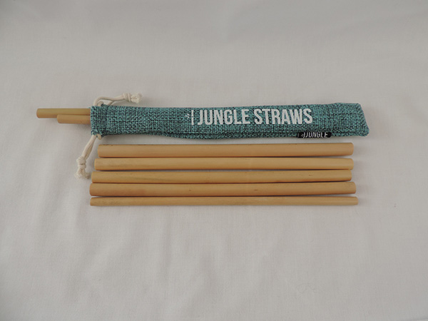 Reusable Bamboo Drinking Straws with Case