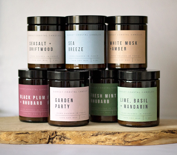 Range of Soy Wax Scented Candles - Dorset Coastal Candles