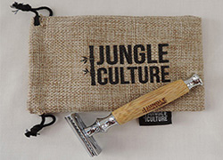 Double Edged Safety Razor with Bamboo Handle