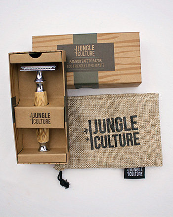 Safety Razor With Bamboo Handle & Case In Box