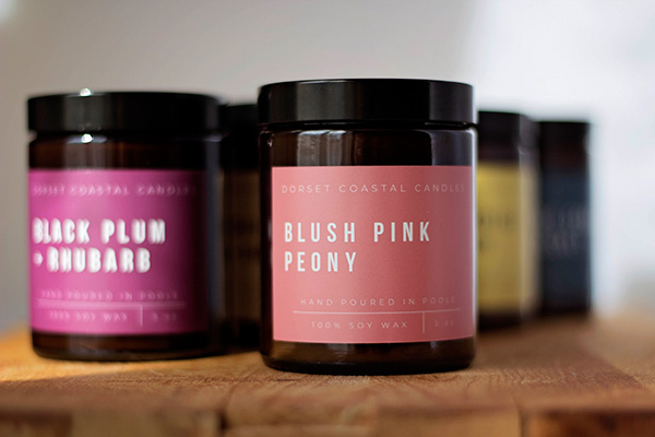 Blush Pink Peony Soy Wax Candle