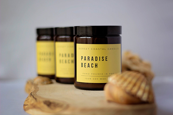 Paradise Beach Soy Wax Candle With Sea Shells